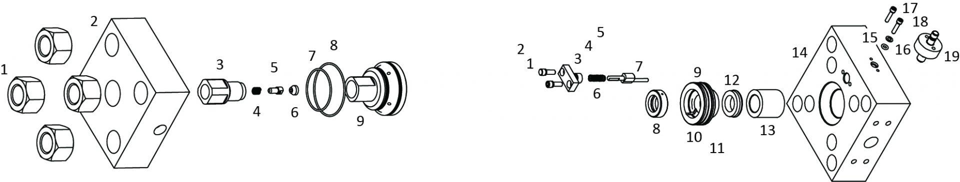 composant pompe accustream2 - Pièces détachées pompes ACCUSTREAM