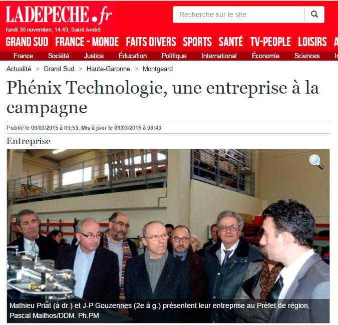 Phénix Technologie, une entreprise à la campagne