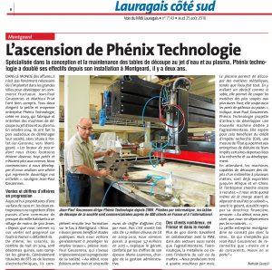 ARTICLEPHENIXTECHNOLOGIE 300x298 - PHENIX TECHNOLOGIE FABRICANT CENTRES DE DECOUPE JET D'EAU ET PLASMA