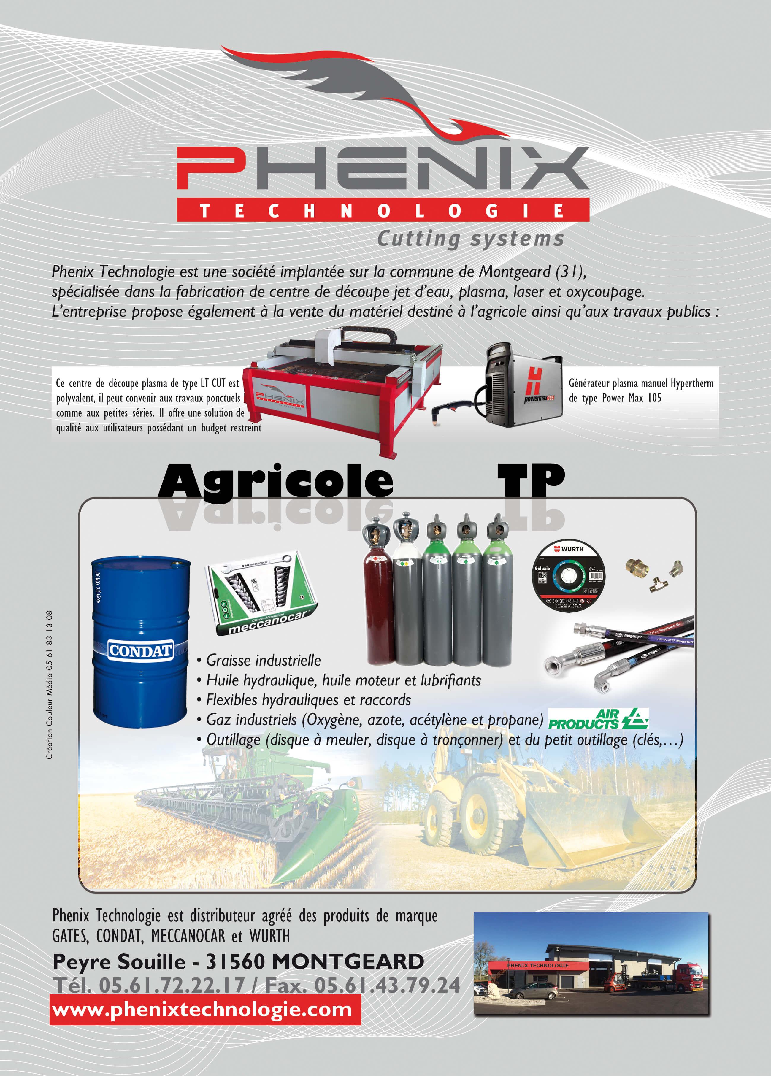 PHENIX TECHNOLOGIE CL175 - Article paru dans Couleur Lauragais