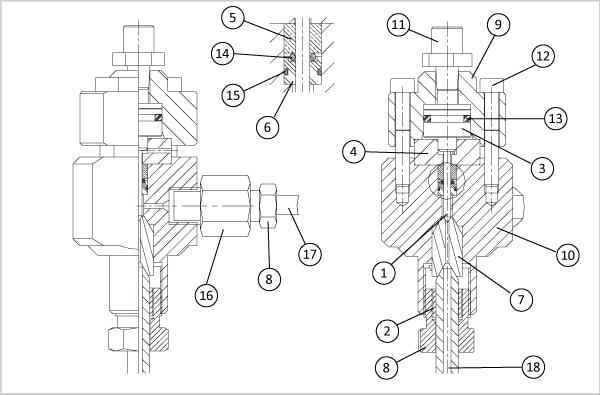 schema vanne de decharge - Tête de découpe compatibles Digital Control suite