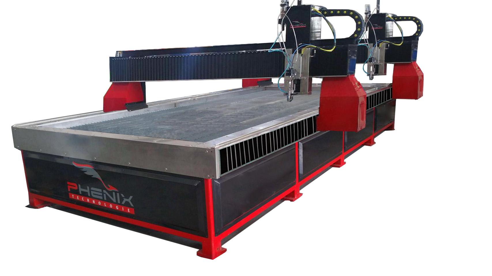 MD X double tete - MD-X Máquina de corte por chorro de agua