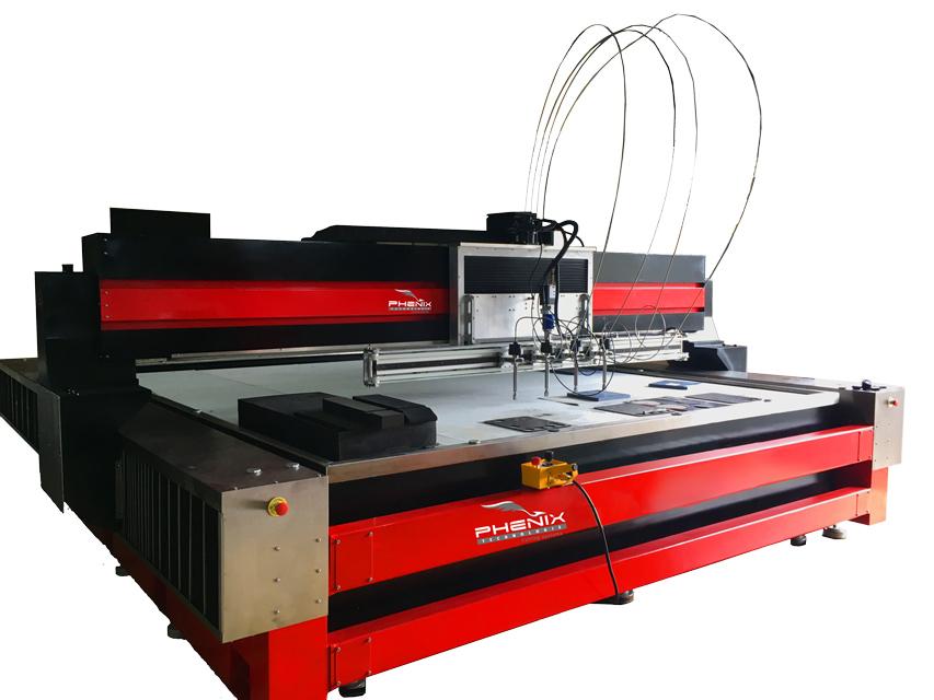 machine decoupe jet deau PROJET 4 tete - PRO Jet Machine CNC de découpe jet d'eau