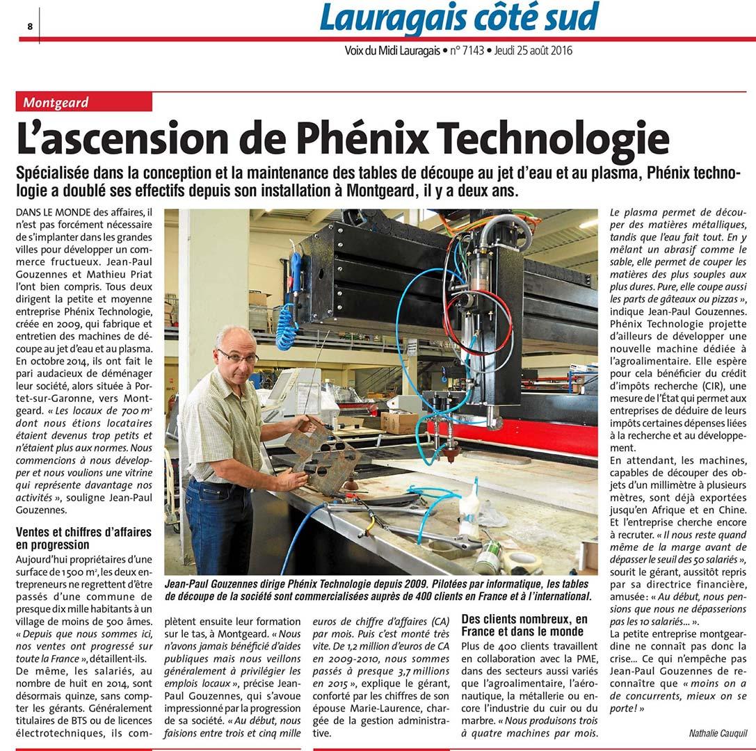 voix lauragais phenix technologie - L'ascension de Phénix Technologie