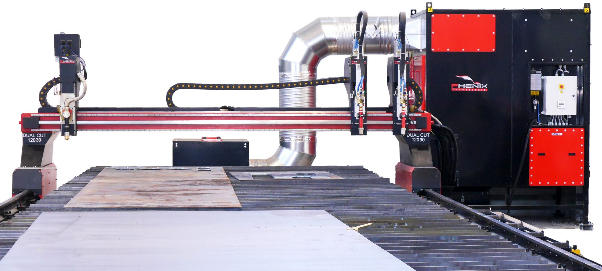 P1000845 Dét 01 - DUAL Cut machine découpe plasma