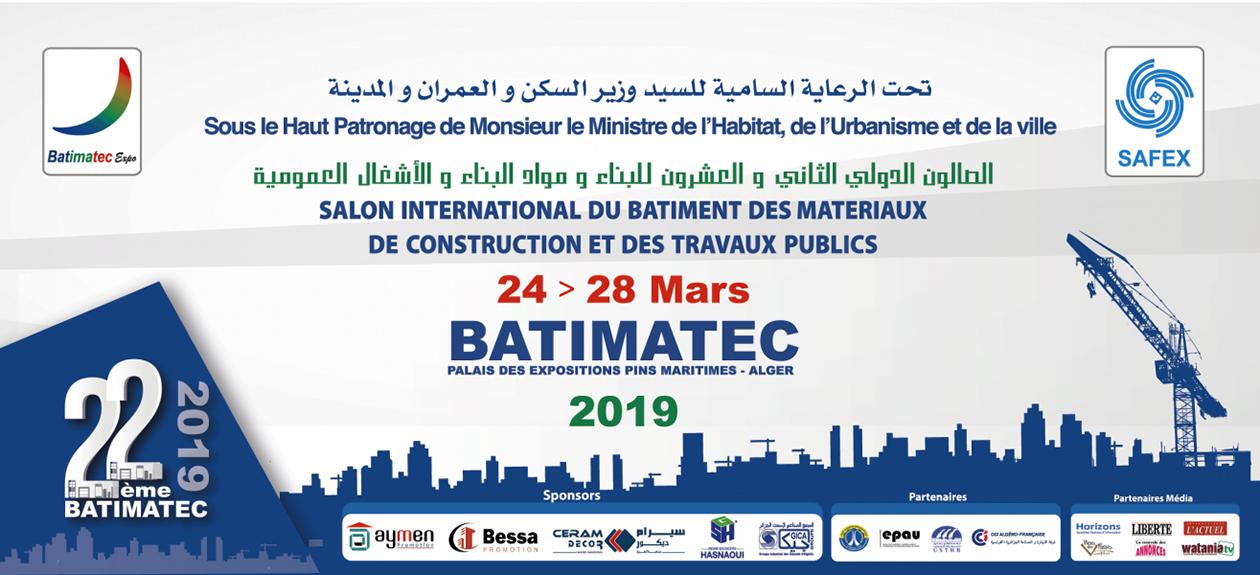 BATIMATeC 2019 Logo - Salon BATIMATEC - March 2019 and International Fair of Algiers