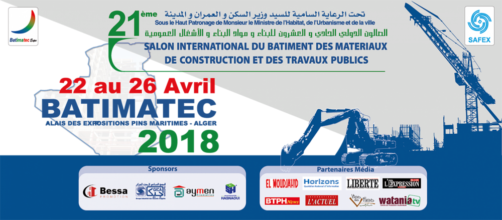 Photo Salon Batimatec 02 e1548672182115 - Salon Batimatec - Avril 2018 et Foire Internationale d'Alger